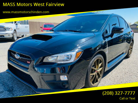 2017 Subaru WRX for sale at M.A.S.S. Motors - West Fairview in Boise ID