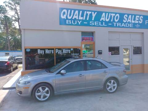 2006 Mazda MAZDA6 for sale at QUALITY AUTO SALES OF FLORIDA in New Port Richey FL