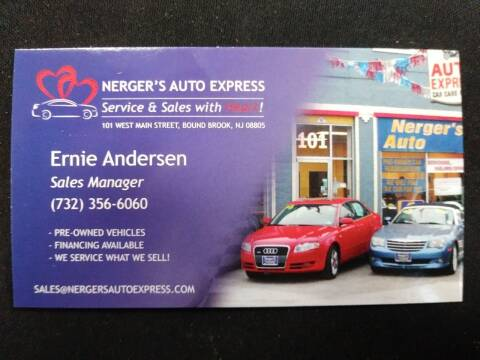 2010 Toyota Corolla for sale at Nerger's Auto Express in Bound Brook NJ