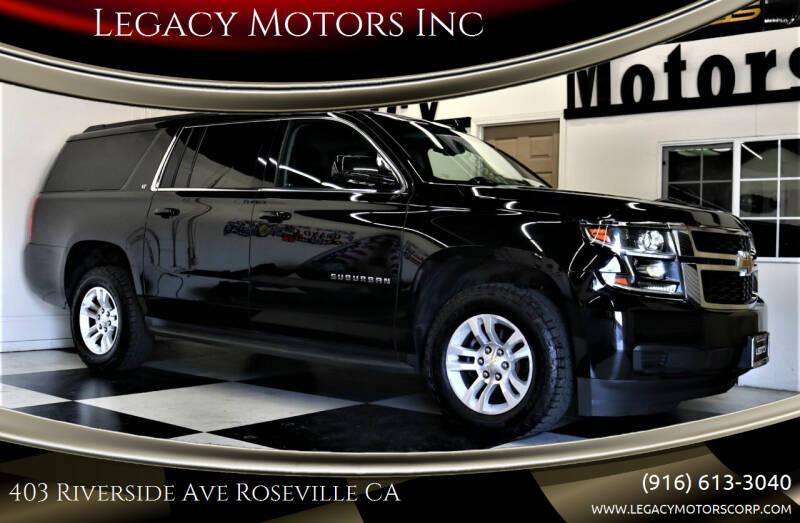 2016 Chevrolet Suburban for sale at Legacy Motors Inc in Roseville CA