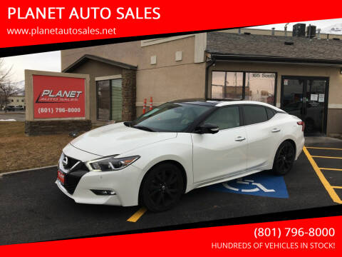 2016 Nissan Maxima for sale at PLANET AUTO SALES in Lindon UT