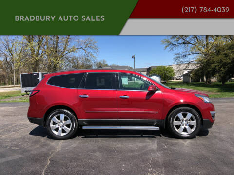 2013 Chevrolet Traverse for sale at BRADBURY AUTO SALES in Gibson City IL