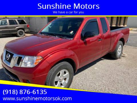 2012 Nissan Frontier for sale at Sunshine Motors in Bartlesville OK