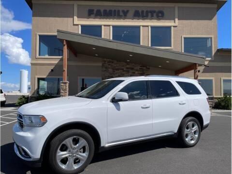 2015 Dodge Durango for sale at Moses Lake Family Auto Center in Moses Lake WA