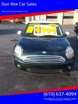 2007 MINI Cooper for sale at Dun Rite Car Sales in Downingtown PA