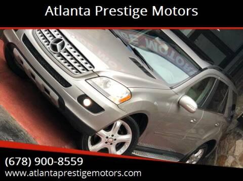 2008 Mercedes-Benz M-Class for sale at Atlanta Prestige Motors in Decatur GA