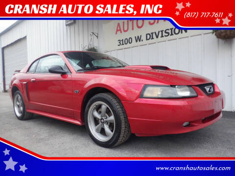 2002 Ford Mustang for sale at CRANSH AUTO SALES, INC in Arlington TX