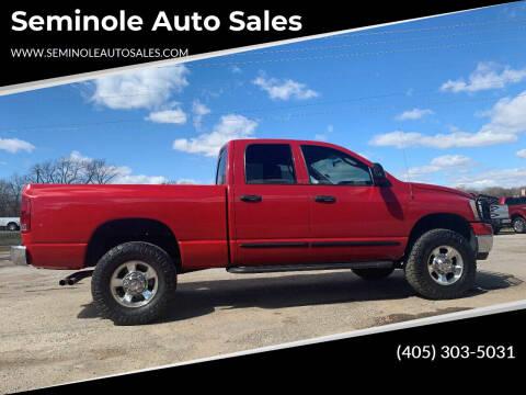 2006 Dodge Ram Pickup 2500 for sale at Seminole Auto Sales in Seminole OK