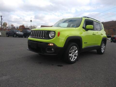 2017 Jeep Renegade for sale at Mulligan's Auto Exchange LLC in Paxinos PA