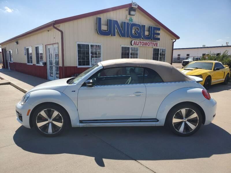 """2014 Volkswagen Beetle Convertible for sale at UNIQUE AUTOMOTIVE """"BE UNIQUE"""" in Garden City KS"""