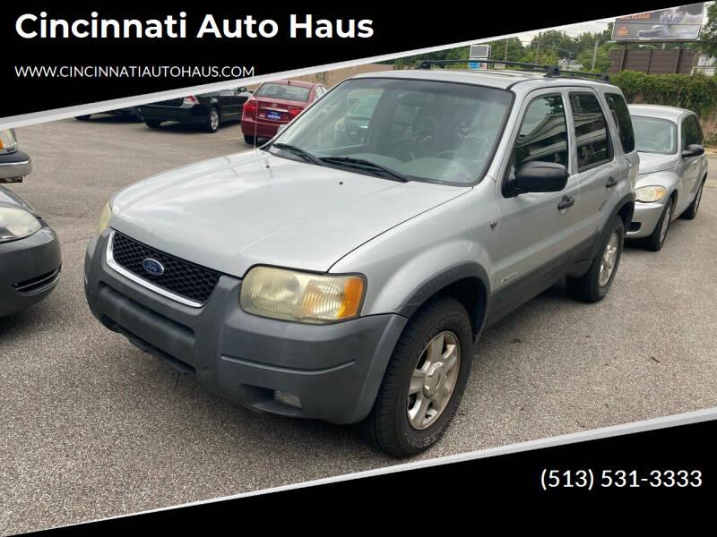 2002 Ford Escape for sale at Cincinnati Auto Haus in Cincinnati OH