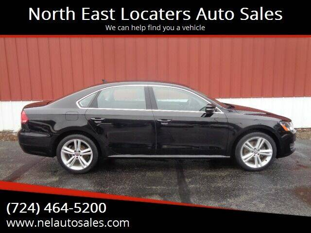 2015 Volkswagen Passat for sale at North East Locaters Auto Sales in Indiana PA