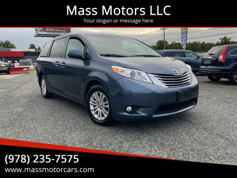 2017 Toyota Sienna for sale at Mass Motors LLC in Worcester MA