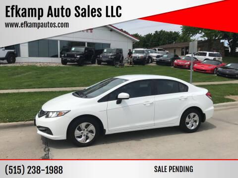 2014 Honda Civic for sale at Efkamp Auto Sales LLC in Des Moines IA