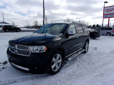 2011 Dodge Durango for sale at DAVE KNAPP USED CARS in Lapeer MI