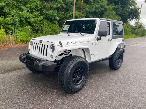 2015 Jeep Wrangler for sale at Autoteam of Valdosta in Valdosta GA