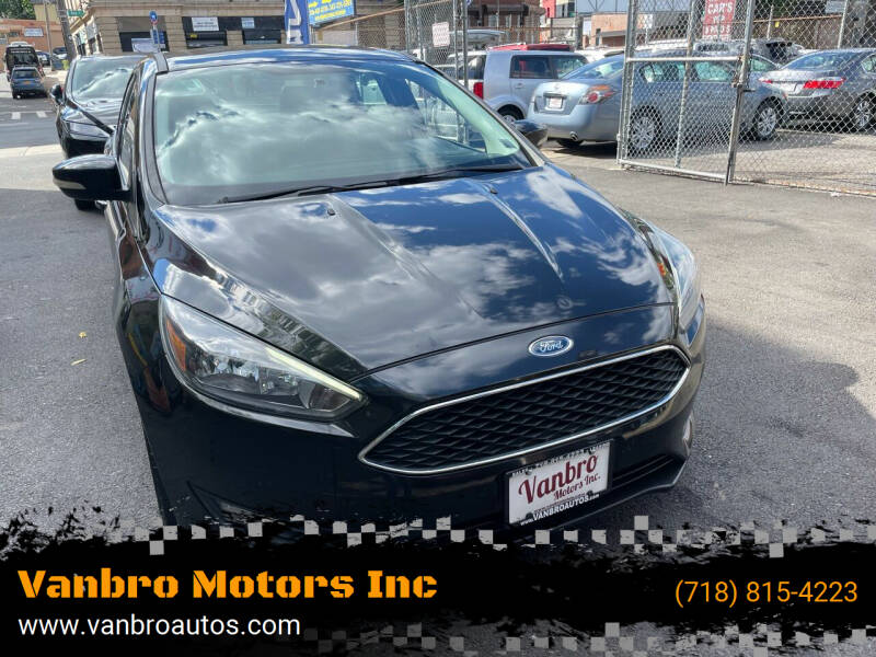 2015 Ford Focus for sale at Vanbro Motors Inc in Staten Island NY