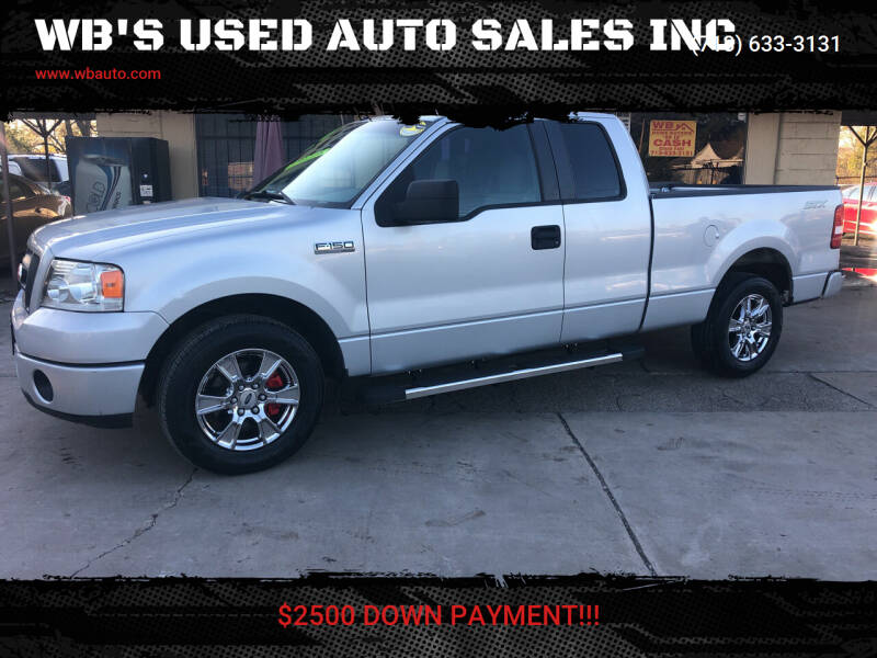 2008 Ford F-150 for sale at WB'S USED AUTO SALES INC in Houston TX
