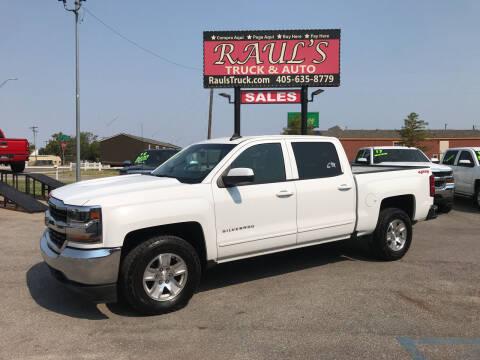 2018 Chevrolet Silverado 1500 for sale at RAUL'S TRUCK & AUTO SALES, INC in Oklahoma City OK