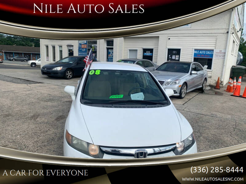 2008 Honda Civic for sale at Nile Auto Sales in Greensboro NC