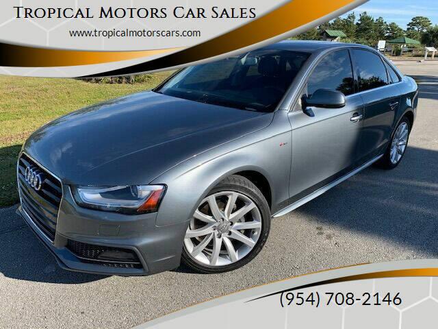 2014 Audi A4 for sale at Tropical Motors Car Sales in Deerfield Beach FL