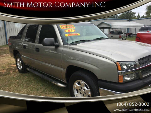 2003 Chevrolet Avalanche for sale at Smith Motor Company INC in Mc Cormick SC
