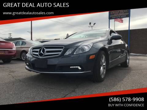2010 Mercedes-Benz E-Class for sale at GREAT DEAL AUTO SALES in Center Line MI