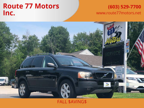 2005 Volvo XC90 for sale at Route 77 Motors Inc. in Weare NH