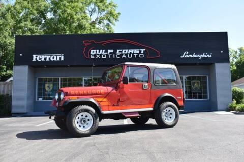 1984 Jeep CJ-7 for sale at Gulf Coast Exotic Auto in Biloxi MS