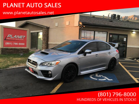 2017 Subaru WRX for sale at PLANET AUTO SALES in Lindon UT