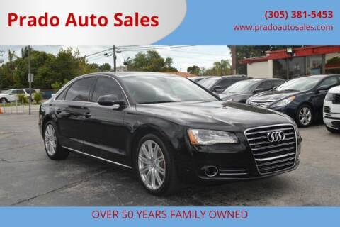2013 Audi A8 L for sale at Prado Auto Sales in Miami FL