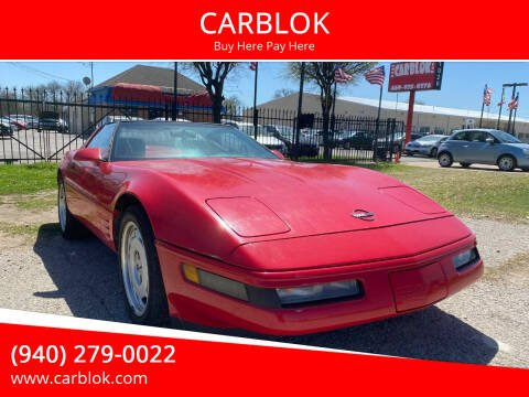 1992 Chevrolet Corvette for sale at CARBLOK in Lewisville TX