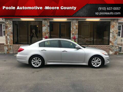 2013 Hyundai Genesis for sale at Poole Automotive in Laurinburg NC