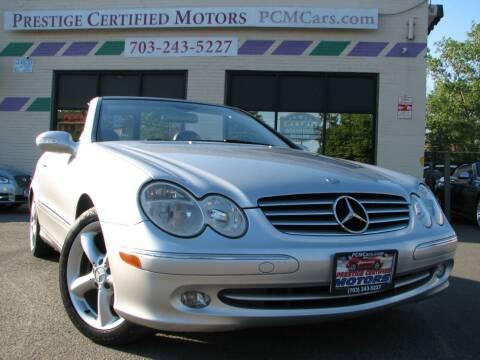 2005 Mercedes-Benz CLK for sale at Prestige Certified Motors in Falls Church VA