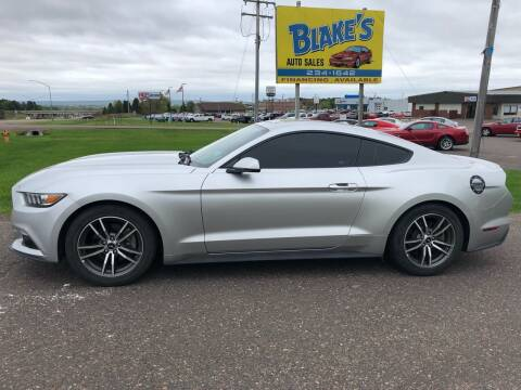 2016 Ford Mustang for sale at Blake's Auto Sales in Rice Lake WI