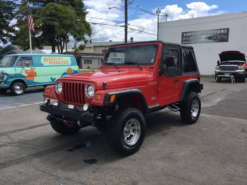 1998 Jeep Wrangler for sale at Longoria Motors in Portland OR