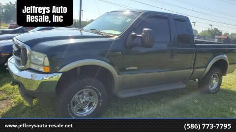 2004 Ford F-250 Super Duty for sale at Jeffreys Auto Resale, Inc in Clinton Township MI