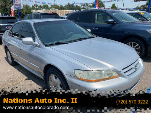 2002 Honda Accord for sale at Nations Auto Inc. II in Denver CO