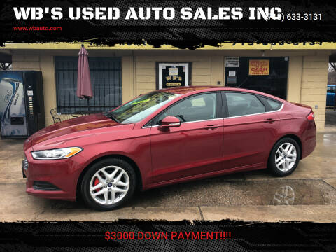 2015 Ford Fusion for sale at WB'S USED AUTO SALES INC in Houston TX