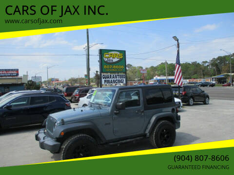 2015 Jeep Wrangler for sale at CARS OF JAX INC. in Jacksonville FL