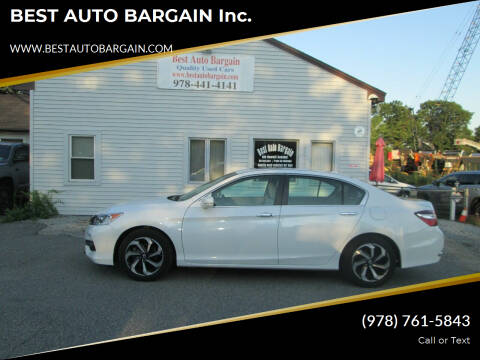 2017 Honda Accord for sale at BEST AUTO BARGAIN inc. in Lowell MA