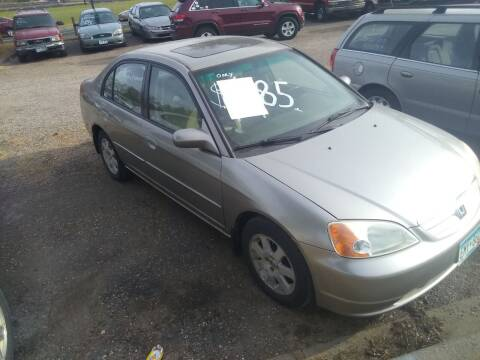 2003 Honda Civic for sale at Continental Auto Sales in White Bear Lake MN