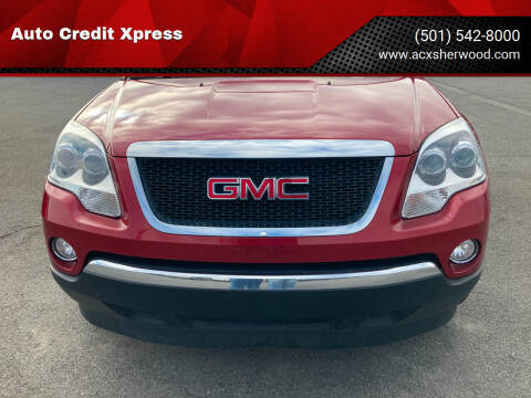 2012 GMC Acadia for sale at Auto Credit Xpress - Sherwood in Sherwood AR