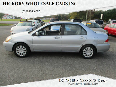 2006 Mitsubishi Lancer for sale at Hickory Wholesale Cars Inc in Newton NC