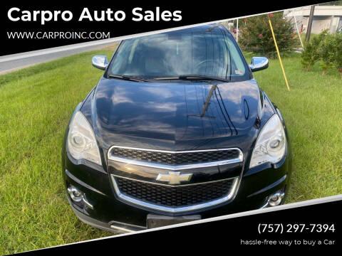 2011 Chevrolet Equinox for sale at Carpro Auto Sales in Chesapeake VA