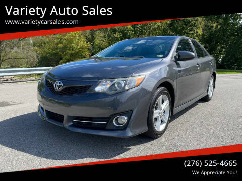 2013 Toyota Camry for sale at Variety Auto Sales in Abingdon VA