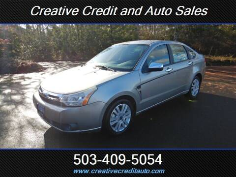 2008 Ford Focus for sale at Creative Credit & Auto Sales in Salem OR