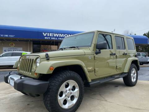 2013 Jeep Wrangler Unlimited for sale at Viewmont Auto Sales in Hickory NC