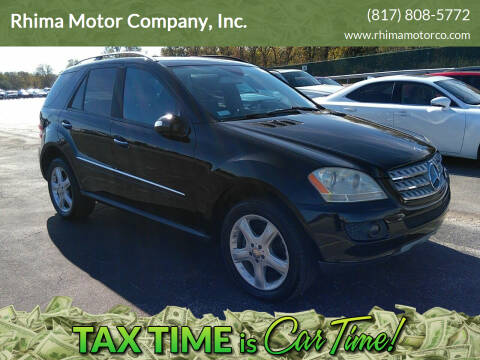 2008 Mercedes-Benz M-Class for sale at Rhima Motor Company, Inc. in Haltom City TX