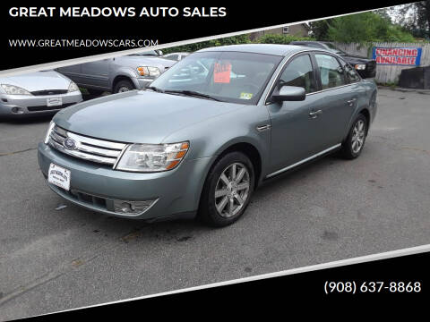 2008 Ford Taurus for sale at GREAT MEADOWS AUTO SALES in Great Meadows NJ